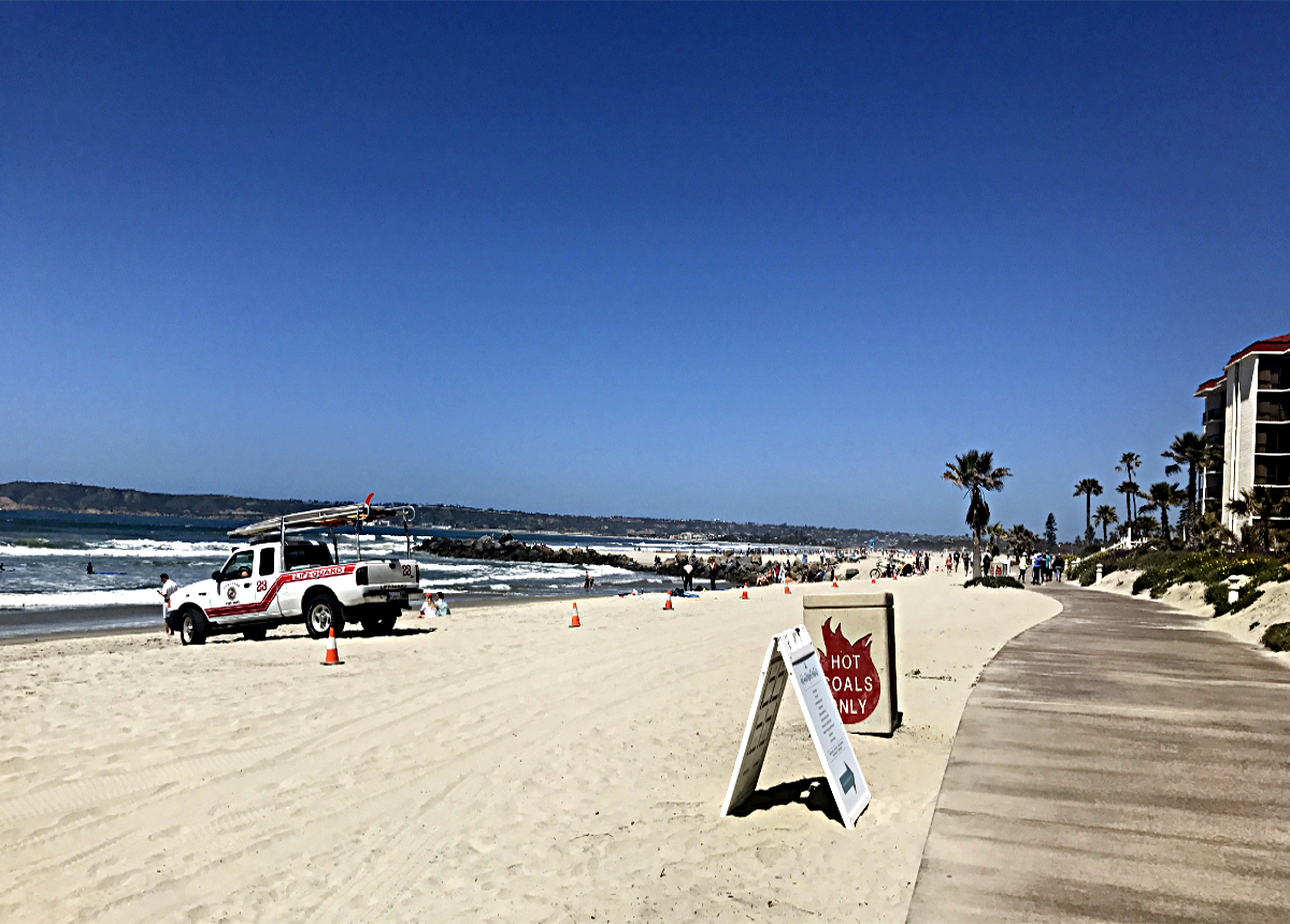 Beach on Coronado Island