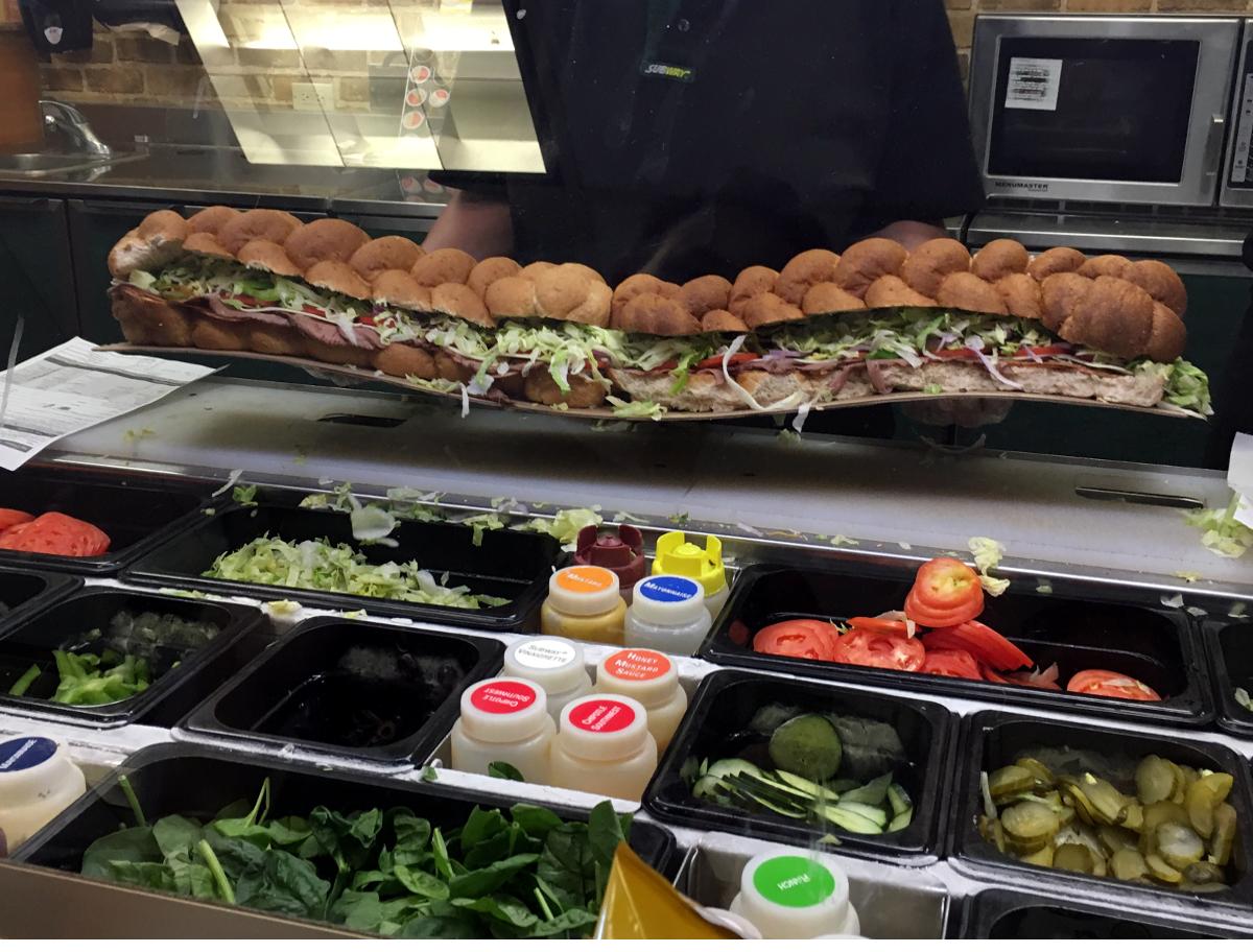 Wielka kanapka Subway