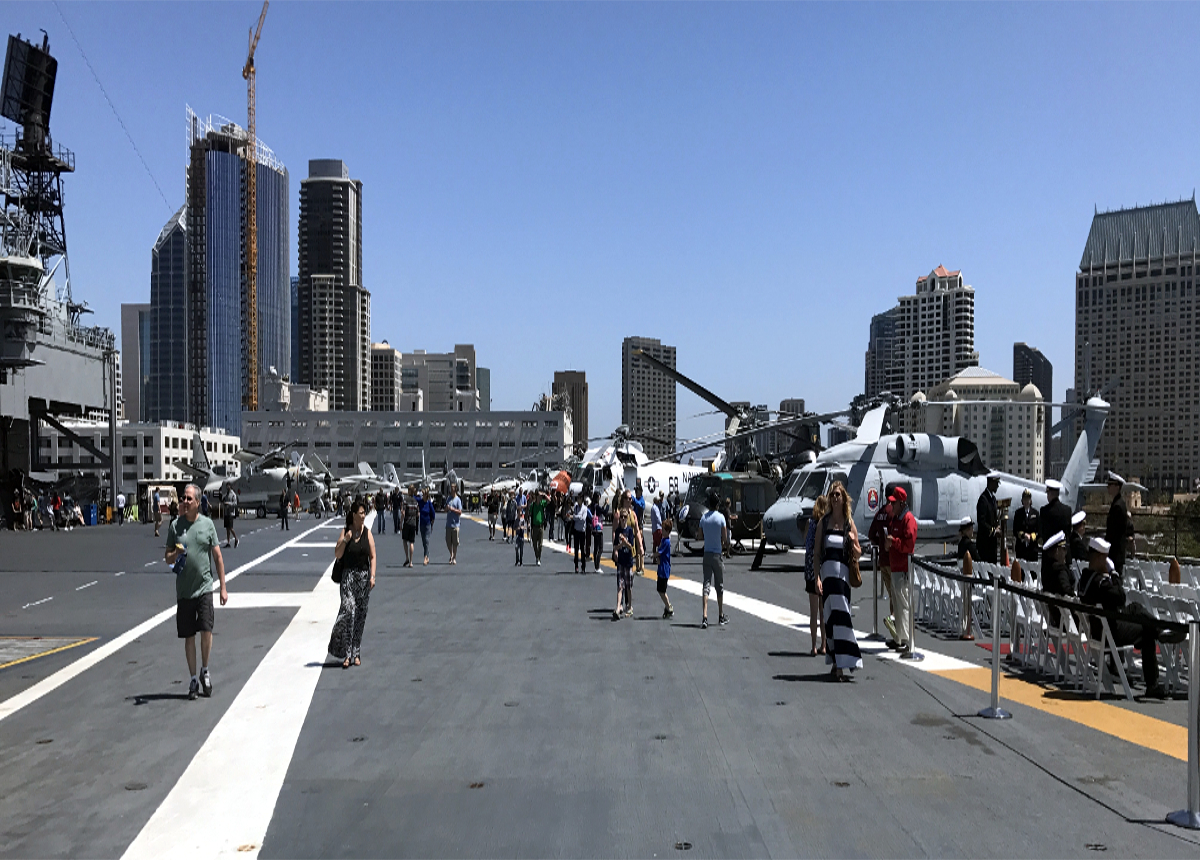 Helicopters on USS Midway