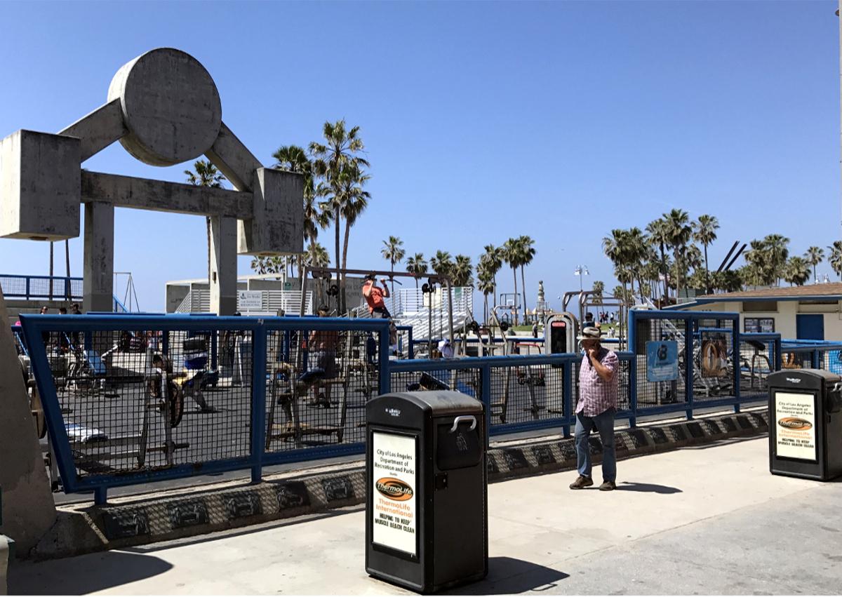 Los Angeles atrakcje-Muscle Beach