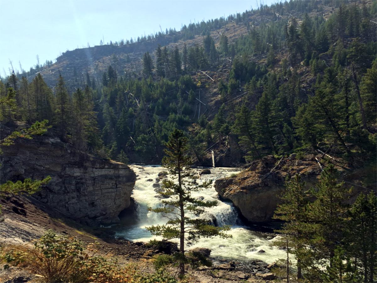 Wodospad w Yellowstone