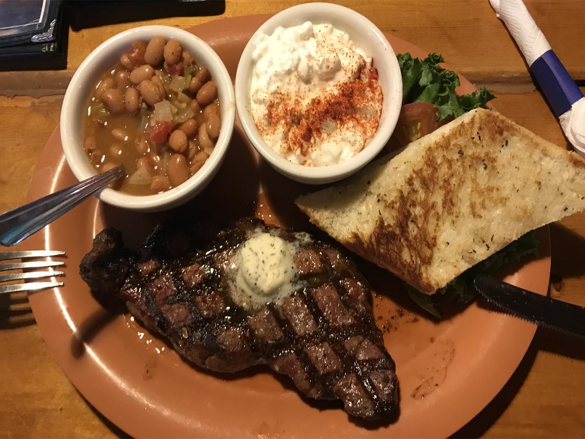 jedzenie w usa-amerykański stek