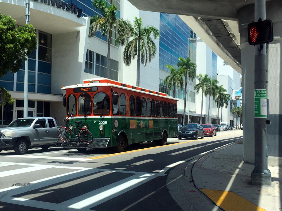 Public transport in Usa-Bus in Miami