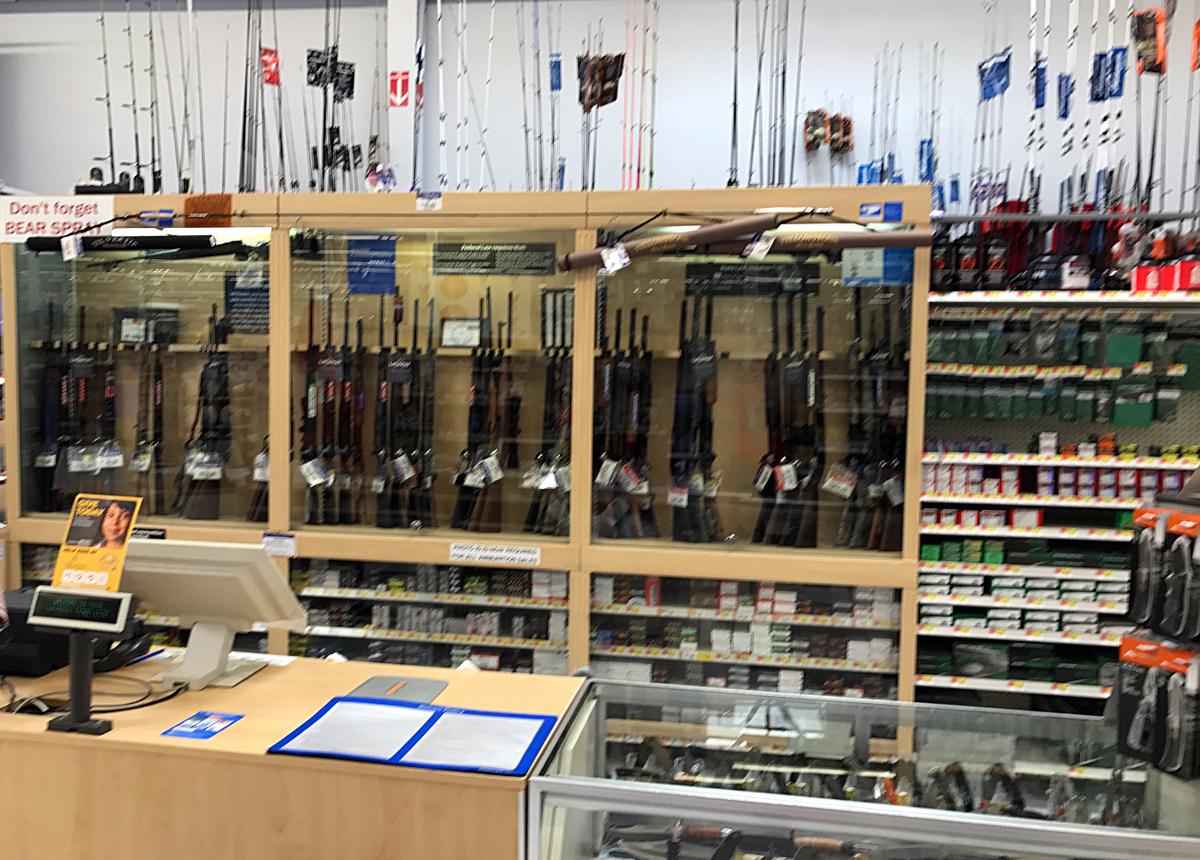 Shopping in USA-Firearm in Wallmart