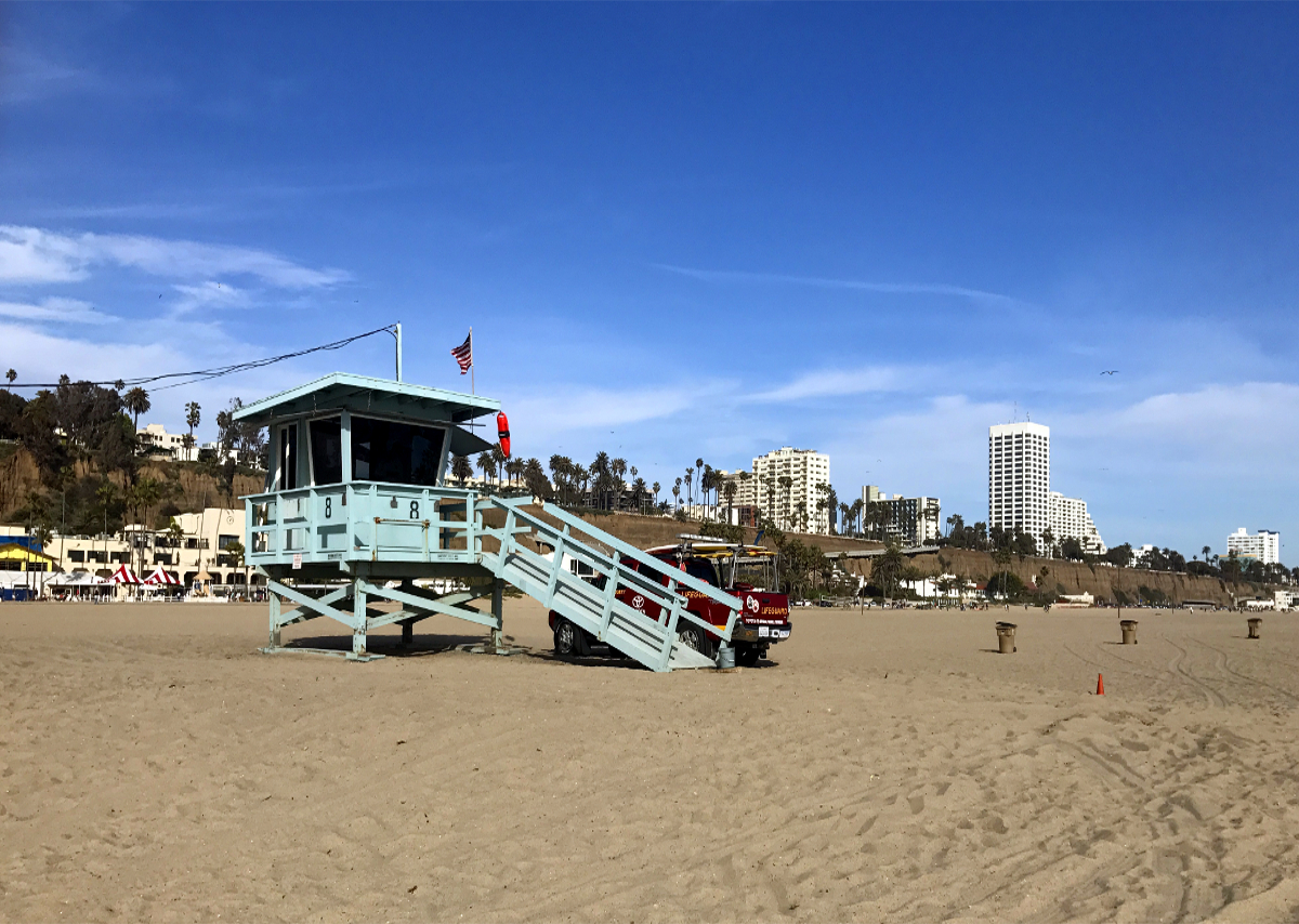 Los Angeles atrakcje-Santa Monica Beach