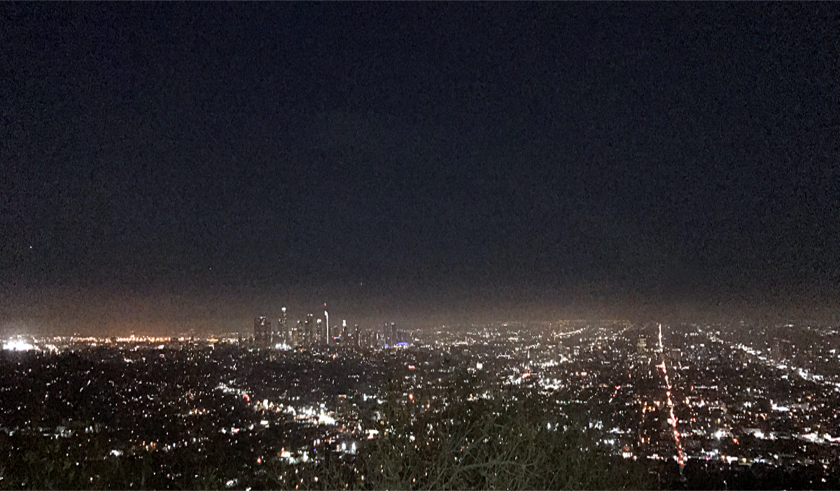 Los Angeles atrakcje-Panoram Los Angeles z parku Griffith
