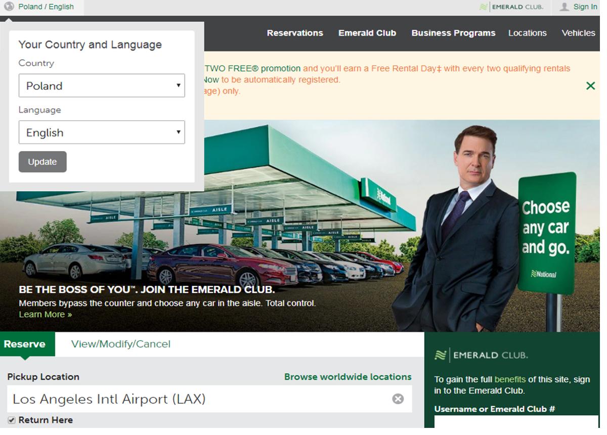car renting usa-National car rental site