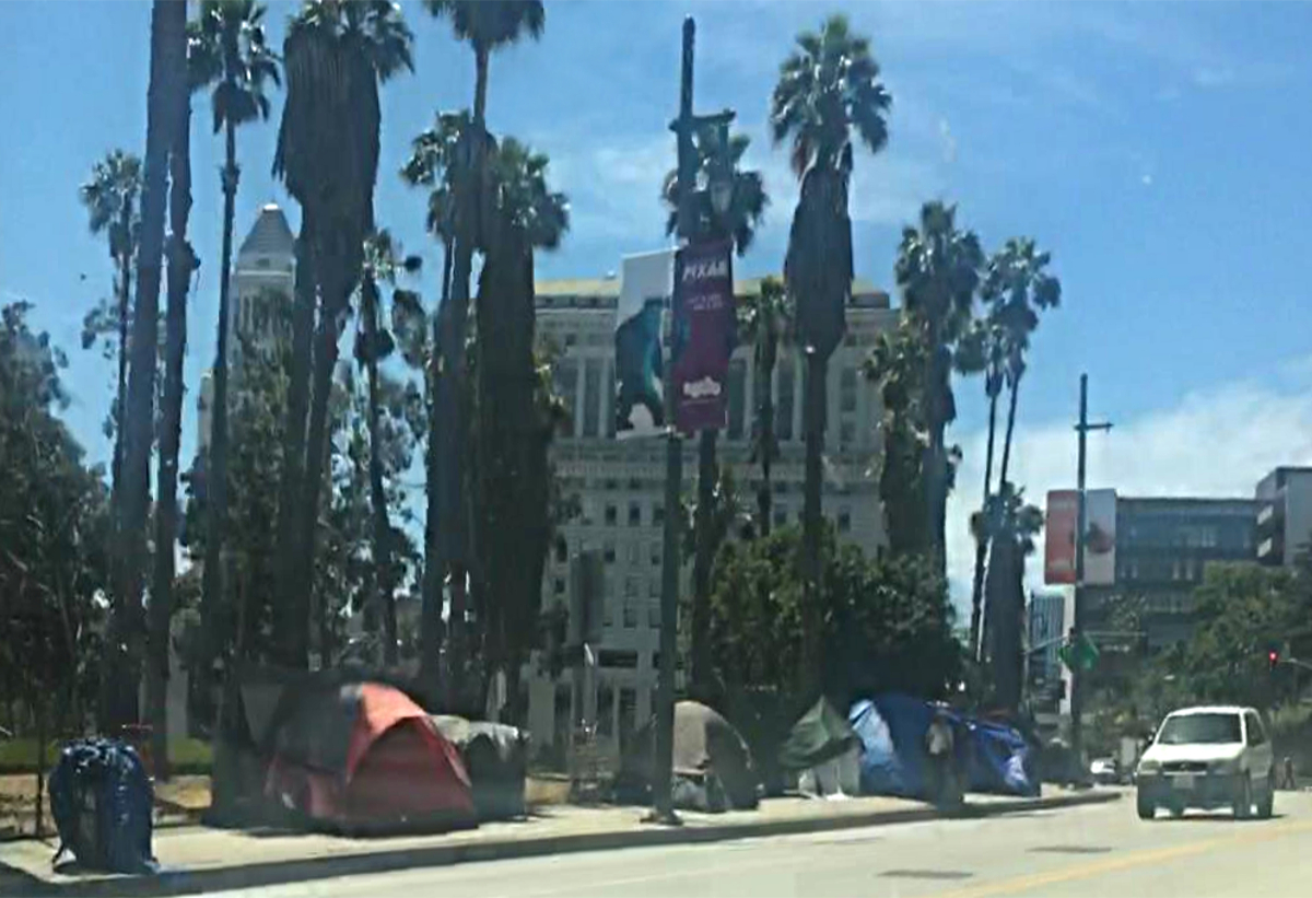 Real America-Los Angeles Homeless tents