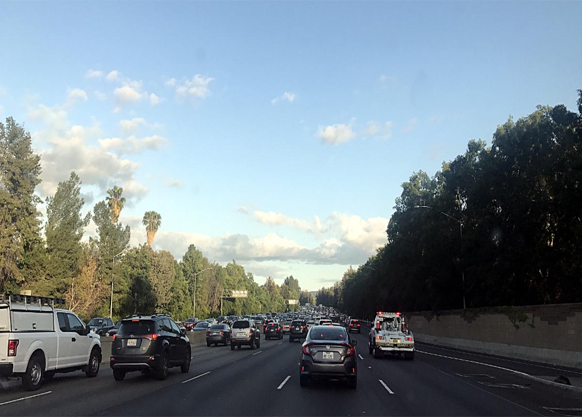 Korki na drodze w USA